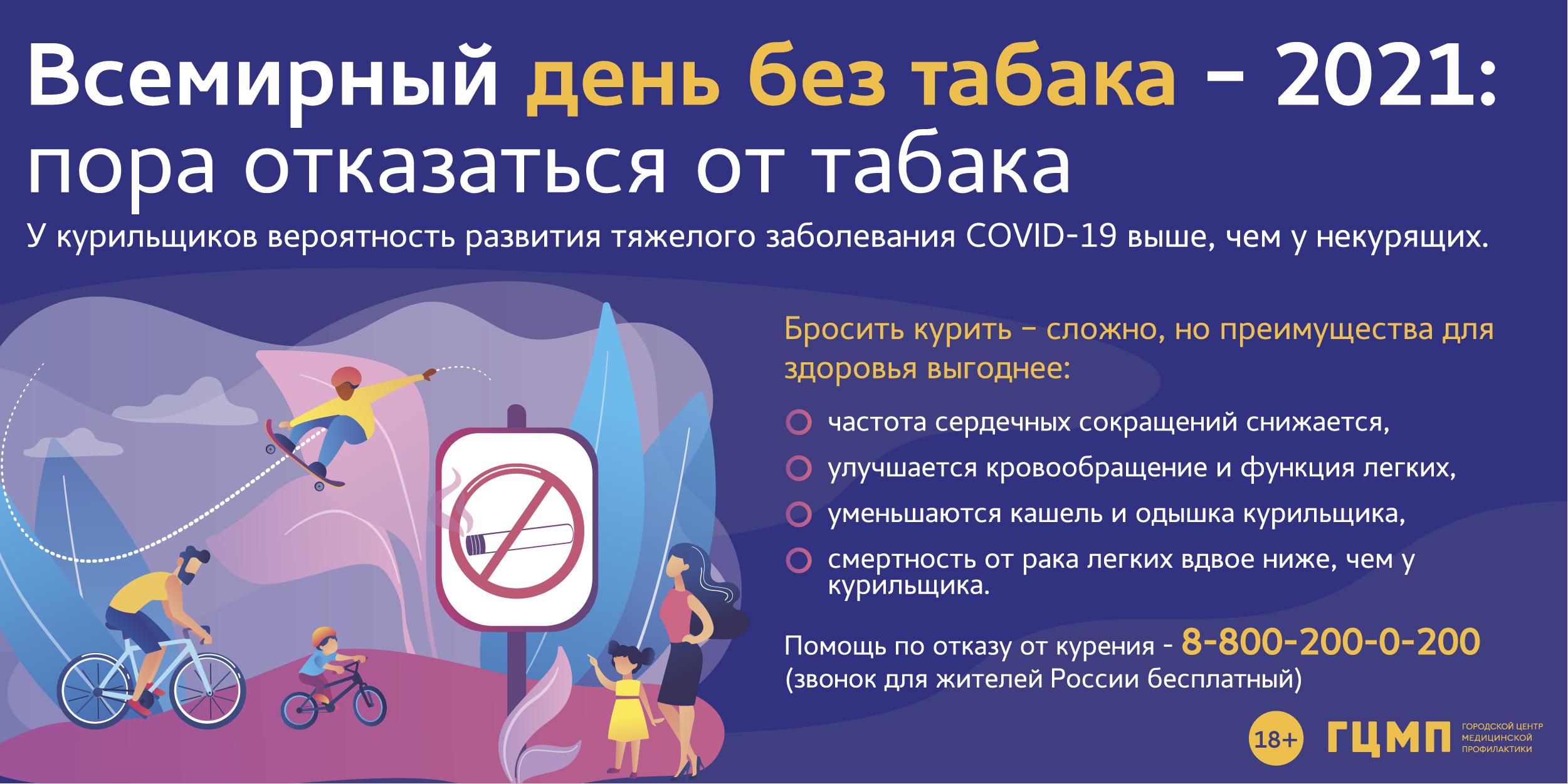 Всемирный день без табака 2020 г.